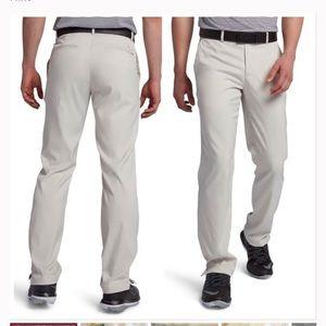 Nike beige Dri-Fit flat front golf pants Waist 34